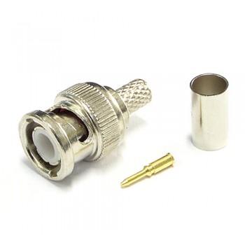 Разъем штекер BNC обжимной, под кабель RG-59(КВК)